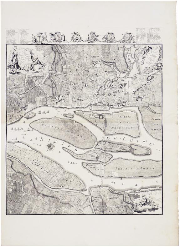 [NANTES] Plan de Nantes, avec les changements et augmentations qu'on y a fait depuis 1757.. CACAULT (François) & LE ROUGE (Georges-Louis).