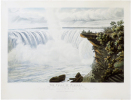 [CHUTES du NIAGARA] The Falls of Niagara. This view of Table Rock & Horse-Shoe-Fall, is by special permission, dedicated to His Most Excellent ...