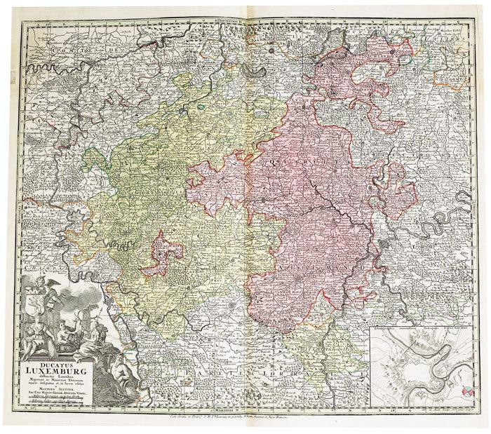 Ducatus Luxemburg.. SEUTTER (Matthaeus);