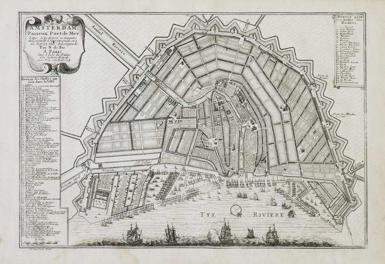 Amsterdam fameux port de mer.. FER (Nicolas de).