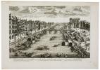 Veüe généralle du Pont de la Tournelle, de la porte St. Bernard et d'une partie de lisle Notre Dame.. AVELINE (Pierre).
