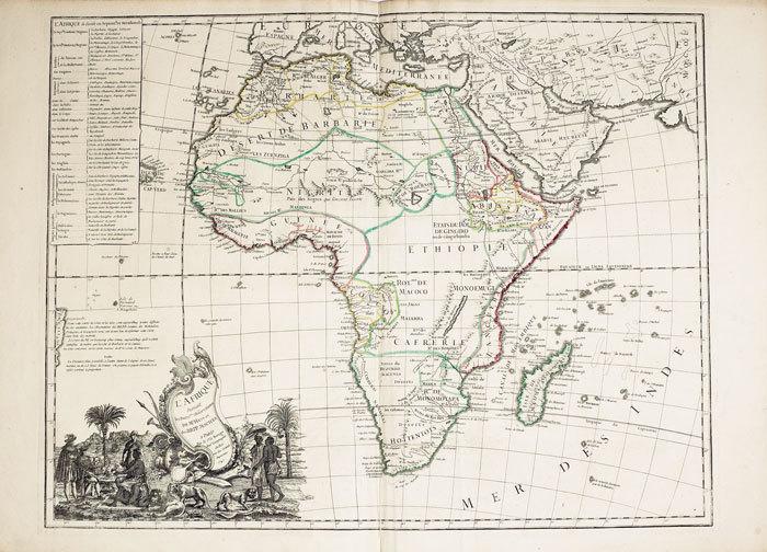L'Afrique suivant les dern.res observations de Mr. Hass et des R.R.P.P. Jésuites.. LE ROUGE (Georges-Louis);