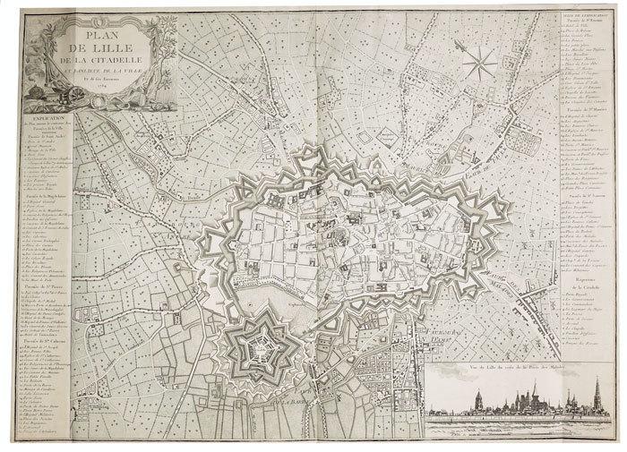 Plan de Lille de la citadelle et banlieue de la ville et de ses environs.. [ANONYME].