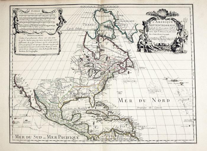 L'Amérique septentrionale.. L'ISLE (Guillaume de);