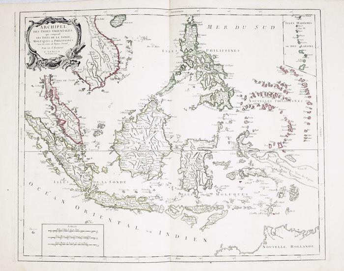 Archipel des Indes Orientales, qui comprend les isles de la Sonde, Moluques et Philippines.. ROBERT de VAUGONDY (Didier);