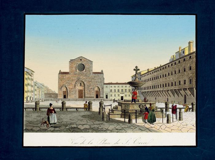 [Florence] Vue de la place de S. Croce.. CAROCCI (Giuseppe);