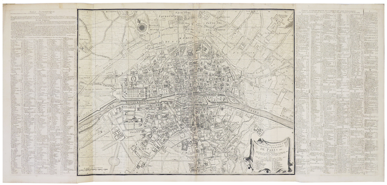 Plan de la ville, cité, université, et faubourgs de Paris.. JAILLOT (Bernard Jean Hyacinthe).