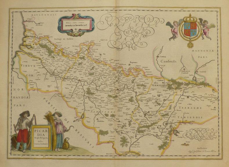 Picardia regio Belgica.. BLAEU (Willem & Johannes);