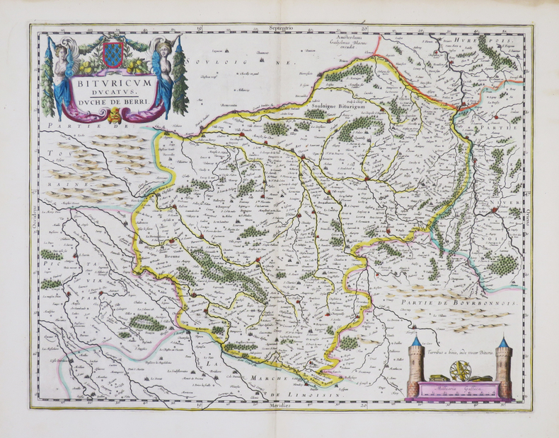 [BERRY] Bituricum ducatus - Duché de Berri.. BLAEU (Willem).