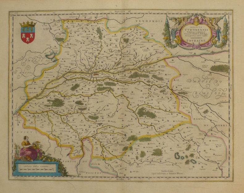 Ducatus Turonensis - Touraine.. BLAEU (Willem & Johannes);