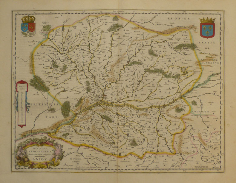 Ducatus Andegavensis - Anjou.. BLAEU (Willem);