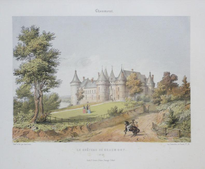 Chaumont. Le château de Chaumont.. ASSELINEAU (Léon-Auguste);