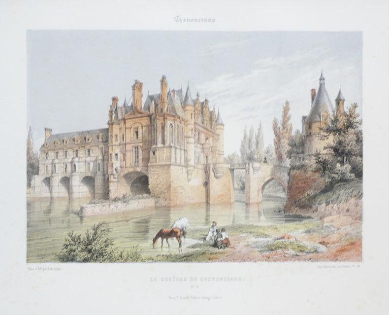 Chenonceaux. Le château de Chenonceaux.. ASSELINEAU (Léon-Auguste);