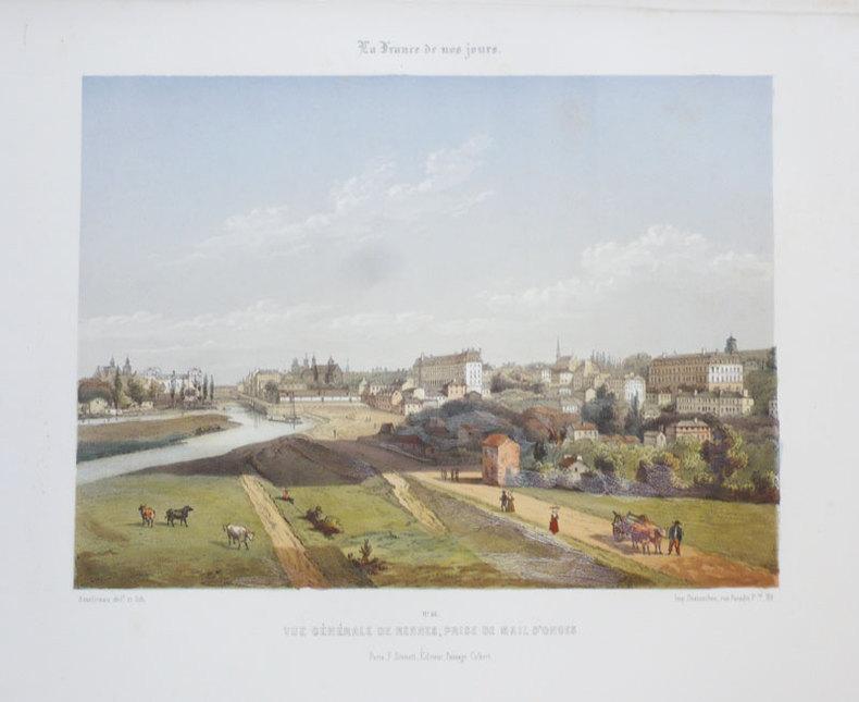 [RENNES] Vue générale de Rennes, prise de Mail d'Onges.. ASSELINEAU (Léon-Auguste);
