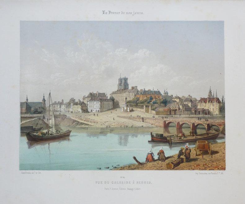 [RENNES] Vue du Calvaire à Rennes.. ASSELINEAU (Léon-Auguste);
