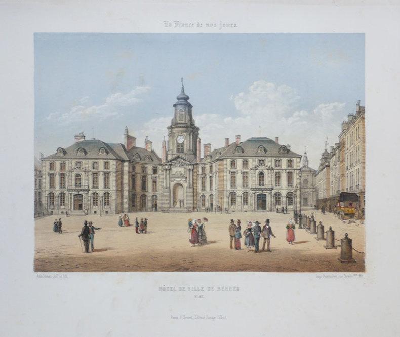[RENNES] Hôtel de Ville de Rennes.. ASSELINEAU (Léon-Auguste);