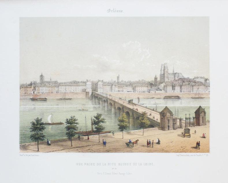 Orléans. Vue prise de la rive gauche de la Loire.. ASSELINEAU (Léon-Auguste);