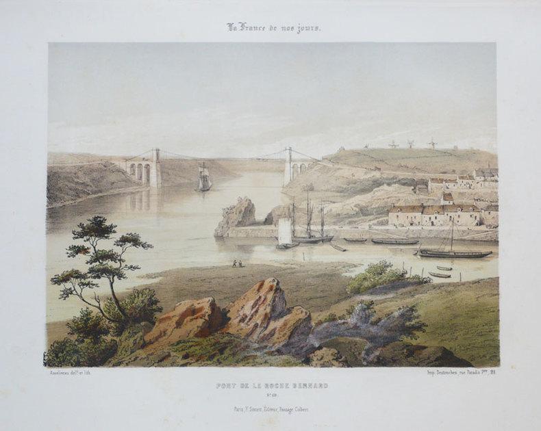 [LA ROCHE BERNARD] Pont de La Roche Bernard.. ASSELINEAU (Léon-Auguste);