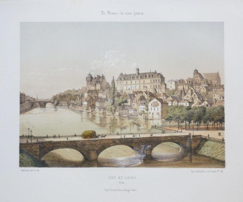 [LAVAL] Vue de Laval.. ASSELINEAU (Léon-Auguste);