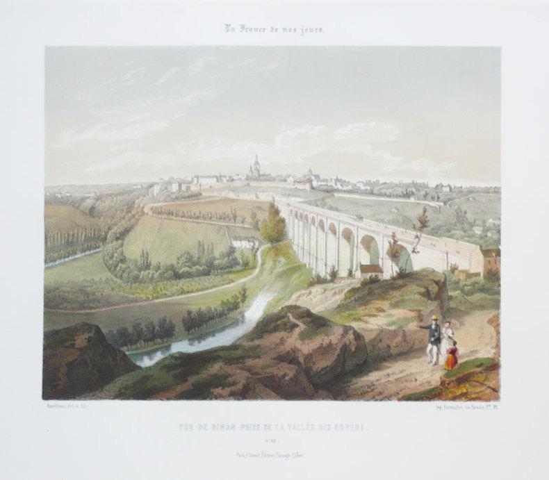 [DINAN] Vue de Dinan prise de la Vallée des Noyers.. ASSELINEAU (Léon-Auguste);