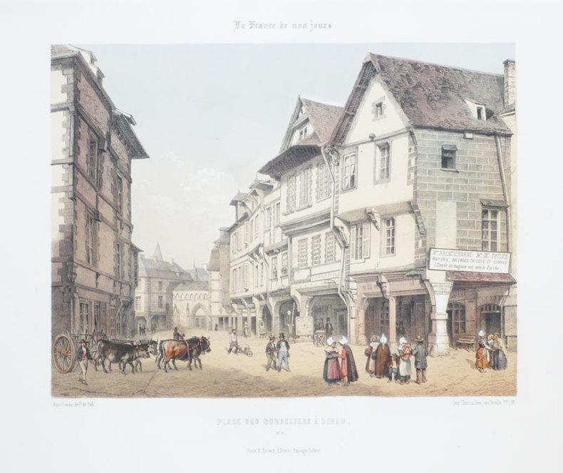 [DINAN] Place des Cordeliers à Dinan.. ASSELINEAU (Léon-Auguste);