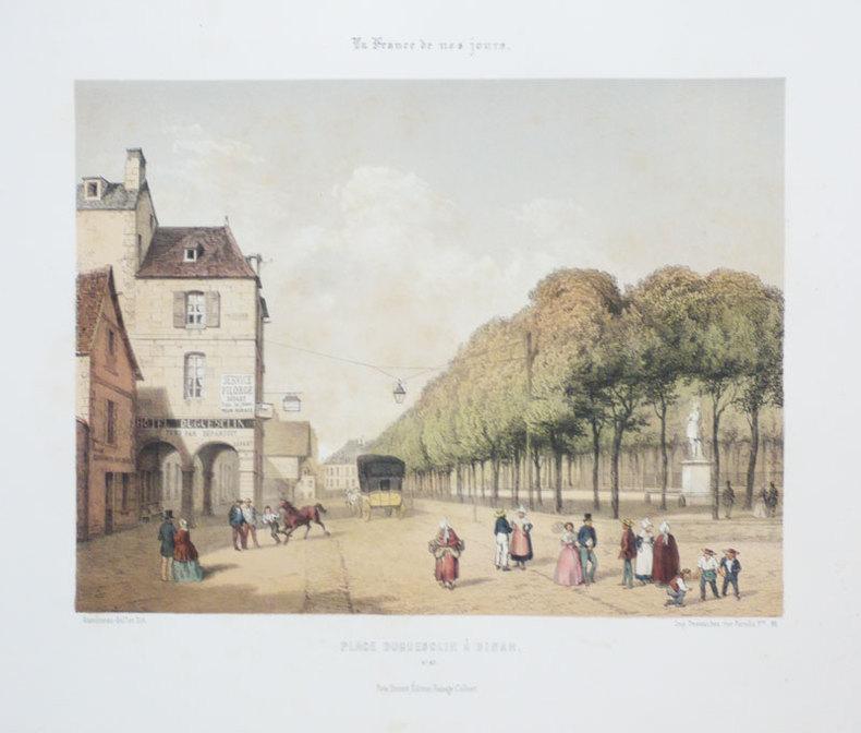 [DINAN] Place Duguesclin à Dinan.. ASSELINEAU (Léon-Auguste);