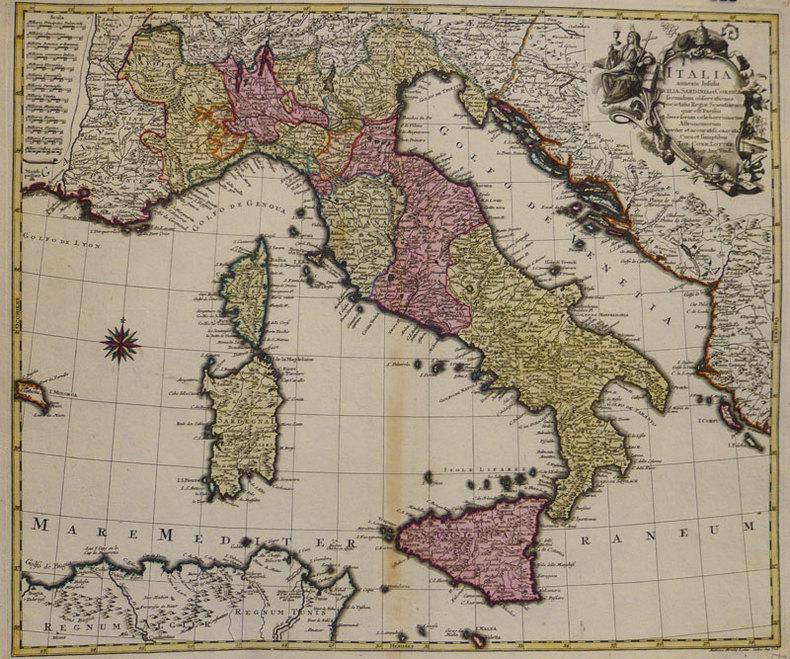 Italia annexis insulis Sicilia, Sardinia et Corsica.. LOTTER (Tobias Conrad);