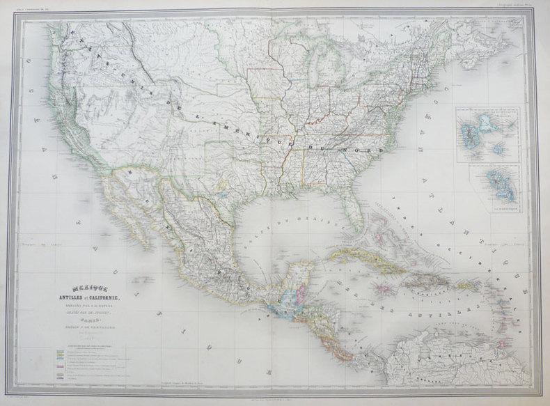 Mexique Antilles et Californie.. DUFOUR (Auguste-Henri);