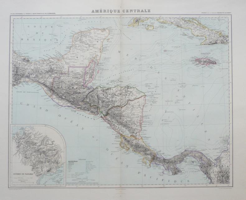 Amérique centrale.. VIVIEN de SAINT-MARTIN (Louis);
