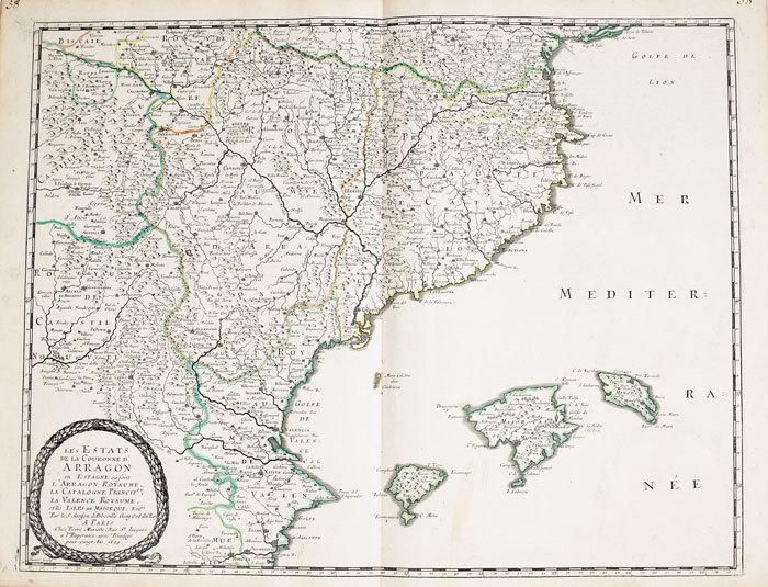 Royaume d'Arragon divisé en sept dioecèses.. SANSON d'ABBEVILLE (Nicolas);