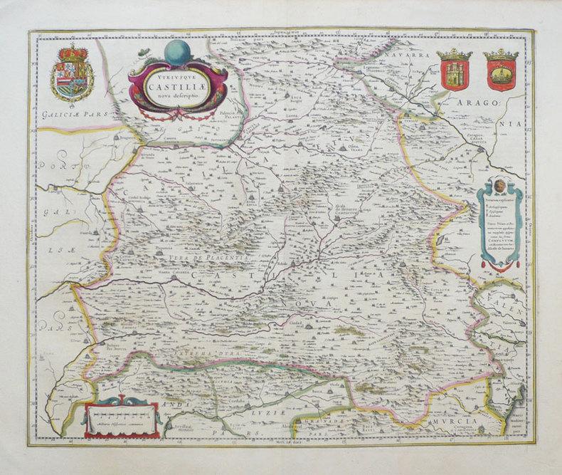 Utriusque Castiliae nova descriptio.. BLAEU (Willem & Johannes);