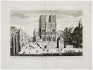 Veûe et perpectives du portail de Notre Dame.. AVELINE (Antoine) & CHÉREAU (Jacques).