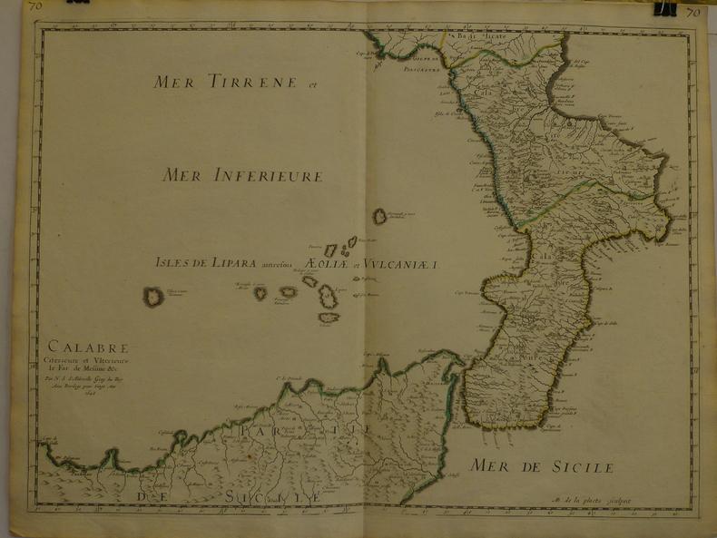 Calabre citérieure et ultérieure, le far de Messine &c.. SANSON d'ABBEVILLE (Nicolas);