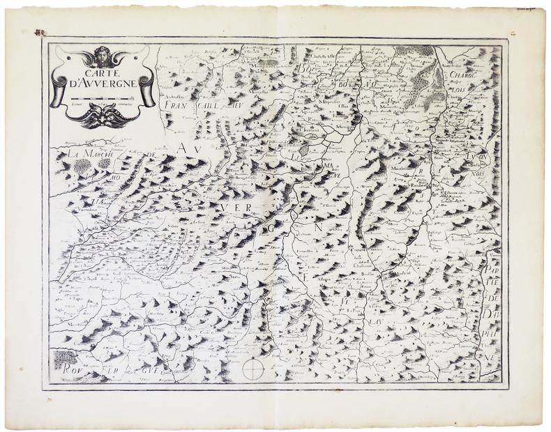 Carte d'Auvergne.. MARIETTE (Pierre).