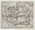 [RENNES] Plan de la ville de Rennes levé par F. Forestier après l'incendie arivée le 22 xbre 1720, sur lequel ont esté formé les projets tant du Sr. ...
