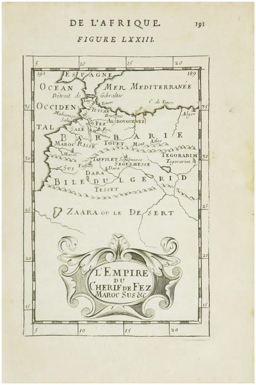 [MAROC] L'Empire du Cherif de Fez Maroc sus &c.. MANESSON-MALLET (Allain).