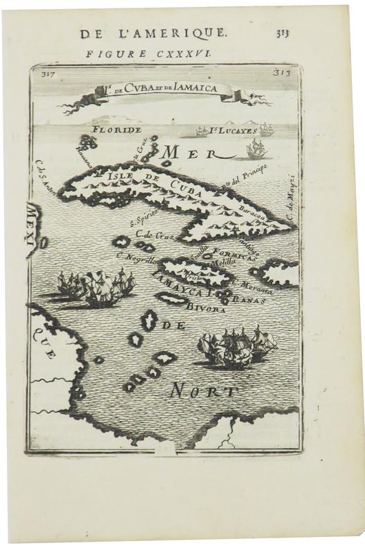 [CUBA] Is. de Cuba et de Jamaica.. MANESSON-MALLET (Allain).