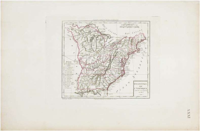 Etats Unis de l'Amérique, corrigés et augmentés en 1803.. TARDIEU (Pierre Antoine).