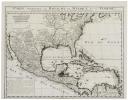 Carte contenant le royaume du Mexique et la Floride.. CHATELAIN (Henry Abraham).