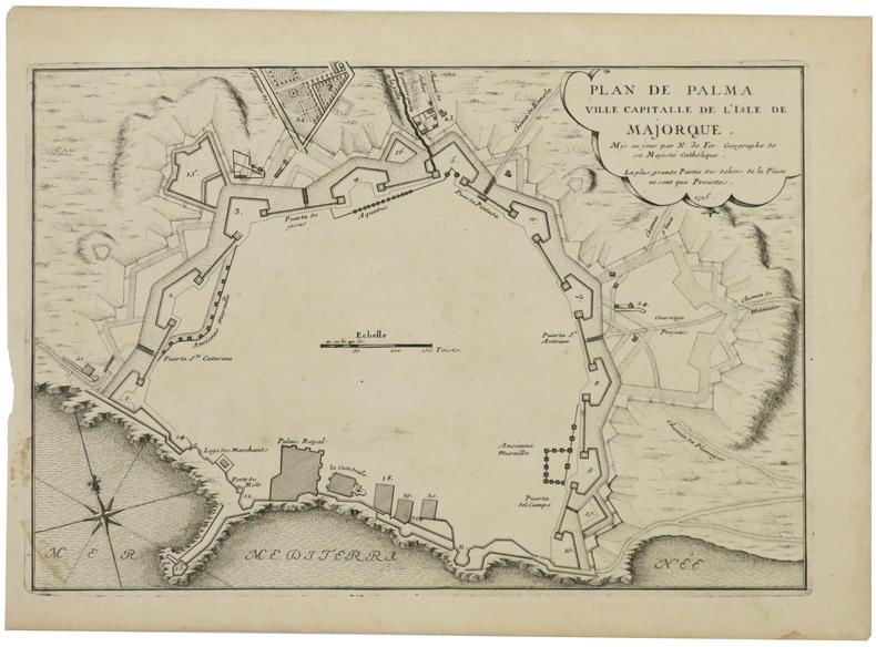 [MAYORQUE] Plan de Palma ville capitalle de l'isle de Majorque.. FER (Nicolas de).