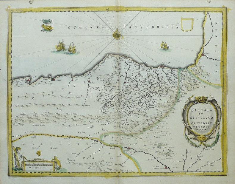 [PAYS BASQUE] Biscaia et Guipuscoa Cantabriae veteris pars.. BLAEU (Johannes);