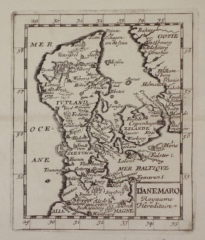 [DANEMARK] Danemarq royaume héréditaire.. DUVAL (Pierre).