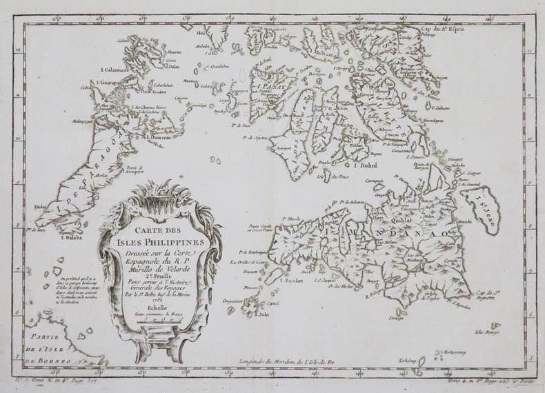 [PHILIPPINES] Carte des isles Philippines dressée sur la carte espagnole du R.P. Murillo de Velarde. 2e feuille.. BELLIN (Jacques-Nicolas).