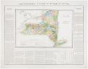 [NEW YORK] Carte géographique, statistique et historique du New-York.. BUCHON (Jean Alexandre).