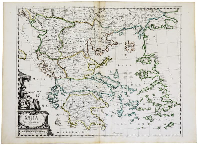 Grèce moderne ou partie méridionale de la Turquie en l'Europe.. MARIETTE (Pierre).