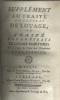 Traité des Contrats Maritimes, Société, et Cheptels Tome 1: Supplément au traité du contrat de louage ou traité des contrats de louage maritimes Tome ...