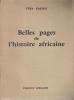 Belles Pages de l'Histoire Africaine. CARDOT Véra