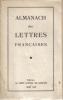 ALMANACH des LETTRES Françaises. COLLECTIF