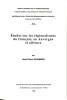 Etudes sur les régionalismes du français, en Auvergne et ailleurs. CHAMBON Jean-pierre