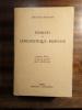Elements de linguistique romane. BOURCIEZ Edouard